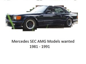 1982 Wanted: Mercedes Benz 500 SEC AMG and 560SEC Wanted
