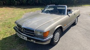 1986 Mercedes 300SL Roadster = Rare RHD New Tops $29.9k