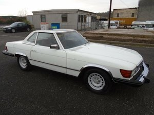 MERCEDES 450 SL CONVERTIBLE(1978)WHITE 110K MOT/TAX EXEMPT SOLD