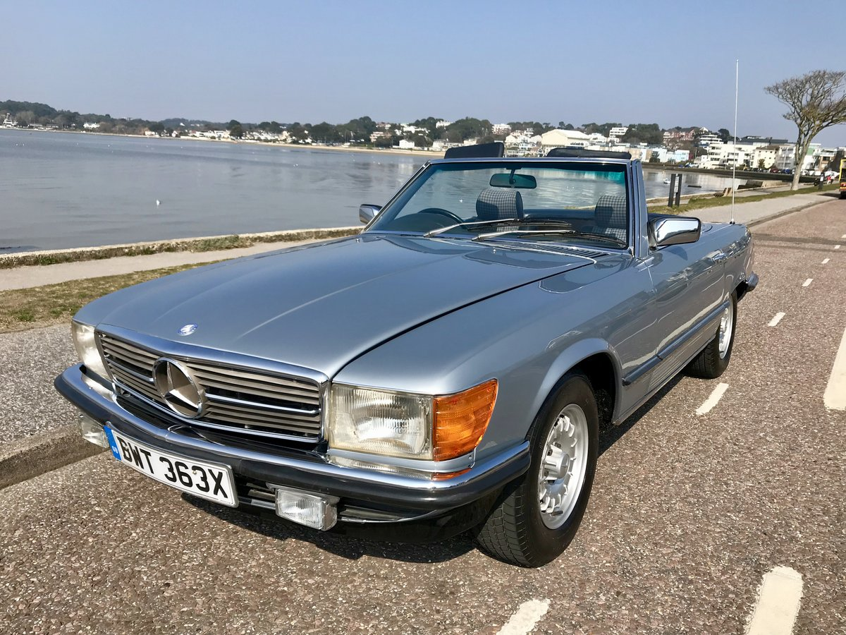 MERCEDES BENZ 280 SL - 1982 ONLY 74,000 miles FSH. SOLD (picture 1 of 6)