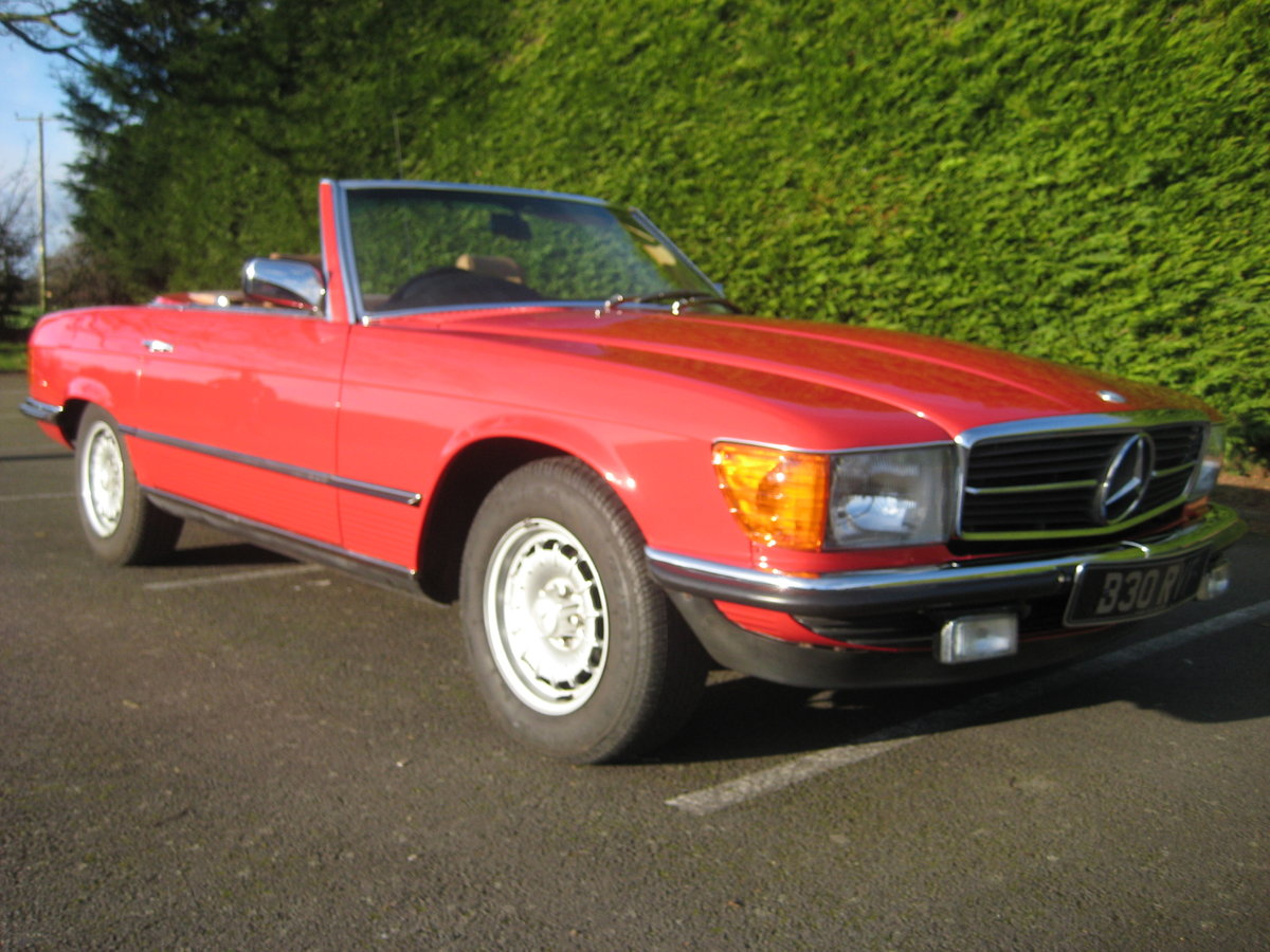 MERCEDES BENZ 280SL 1984- 6 OWNERS FROM NEW For Sale (picture 1 of 6)