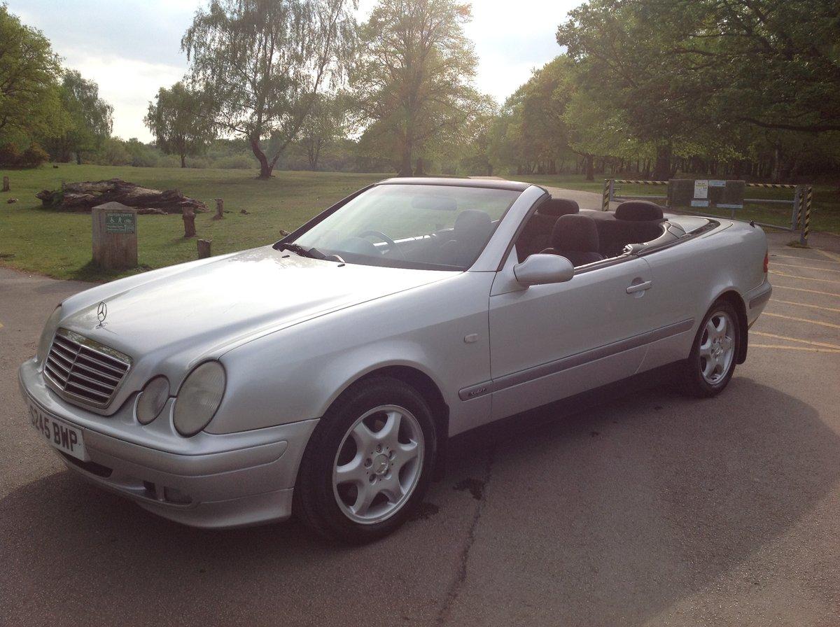 1998 MERCEDES CLK SPORT 230 KOMPRESSOR CONVERTIBLE 64000 FSH AUTO For Sale (picture 1 of 6)