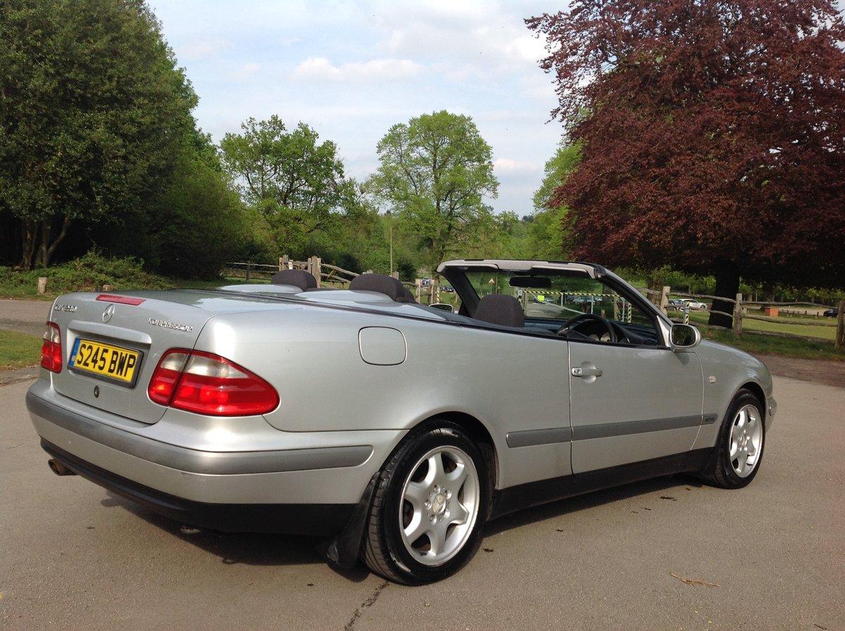 1998 MERCEDES CLK SPORT 230 KOMPRESSOR CONVERTIBLE 64000 FSH AUTO For Sale (picture 3 of 6)