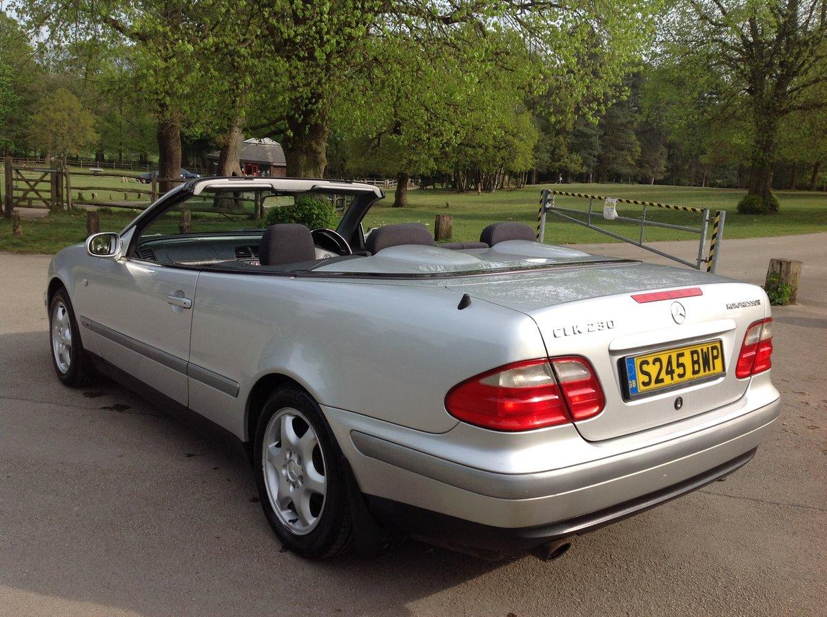 1998 MERCEDES CLK SPORT 230 KOMPRESSOR CONVERTIBLE 64000 FSH AUTO For Sale (picture 4 of 6)