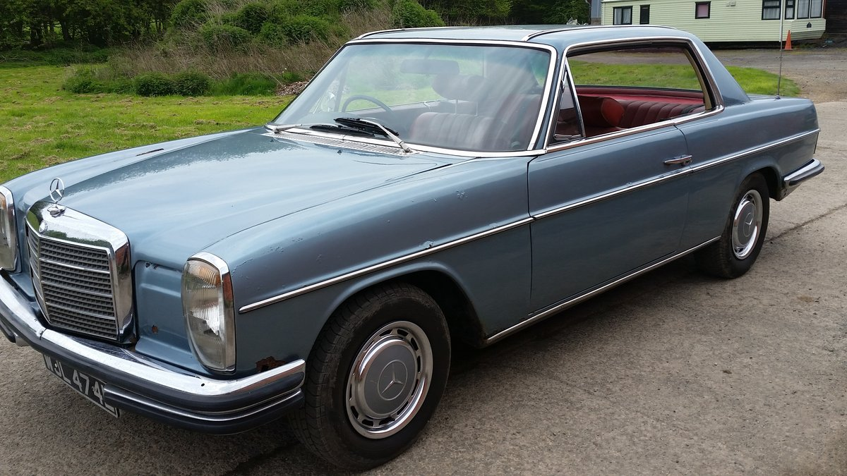 1972 Mercedes Pillarless Coupe Rarest W114 280 CE For Sale (picture 2 of 6)