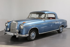 "1958  Mercedes 220 SE Coupe W128 ""Ponton"" with rare sunroof For Sale"