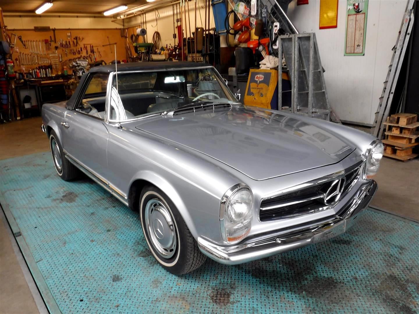 1965 Mercedes Benz 230SL silver '65 For Sale (picture 1 of 6)