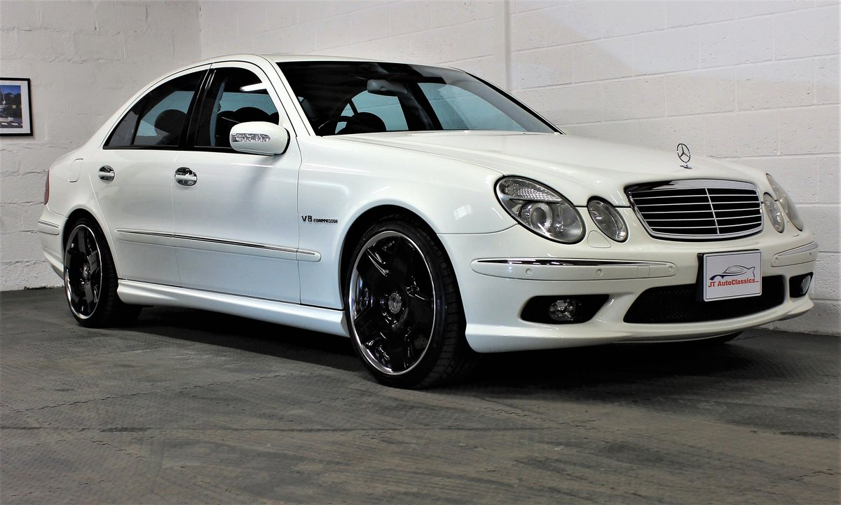 2005 Mercedes-Benz W211 E55 AMG,24,887 miles,Alabaster white For Sale (picture 1 of 6)