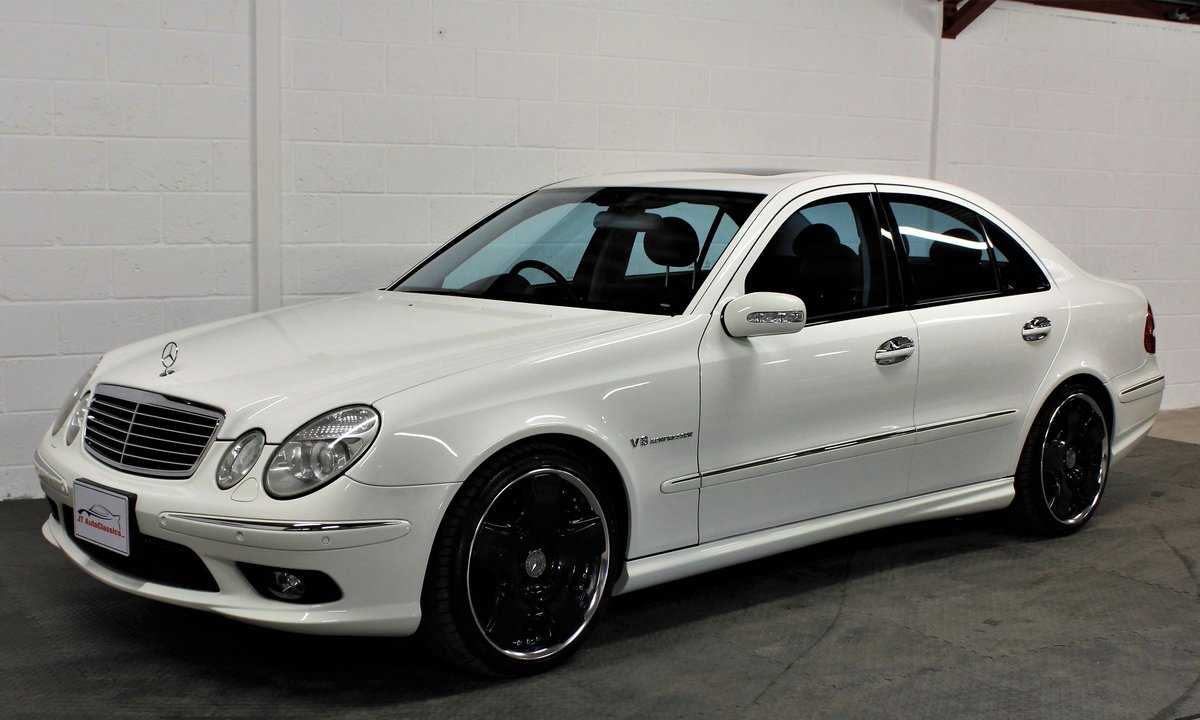 2005 Mercedes-Benz W211 E55 AMG,24,887 miles,Alabaster white For Sale (picture 2 of 6)