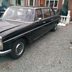 1971 restoration project limo Mercedes 220d auto 7seat For Sale
