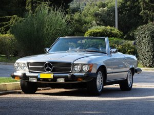 Mercedes-Benz 450 SL, Astral Silver with Blue, Hardtop