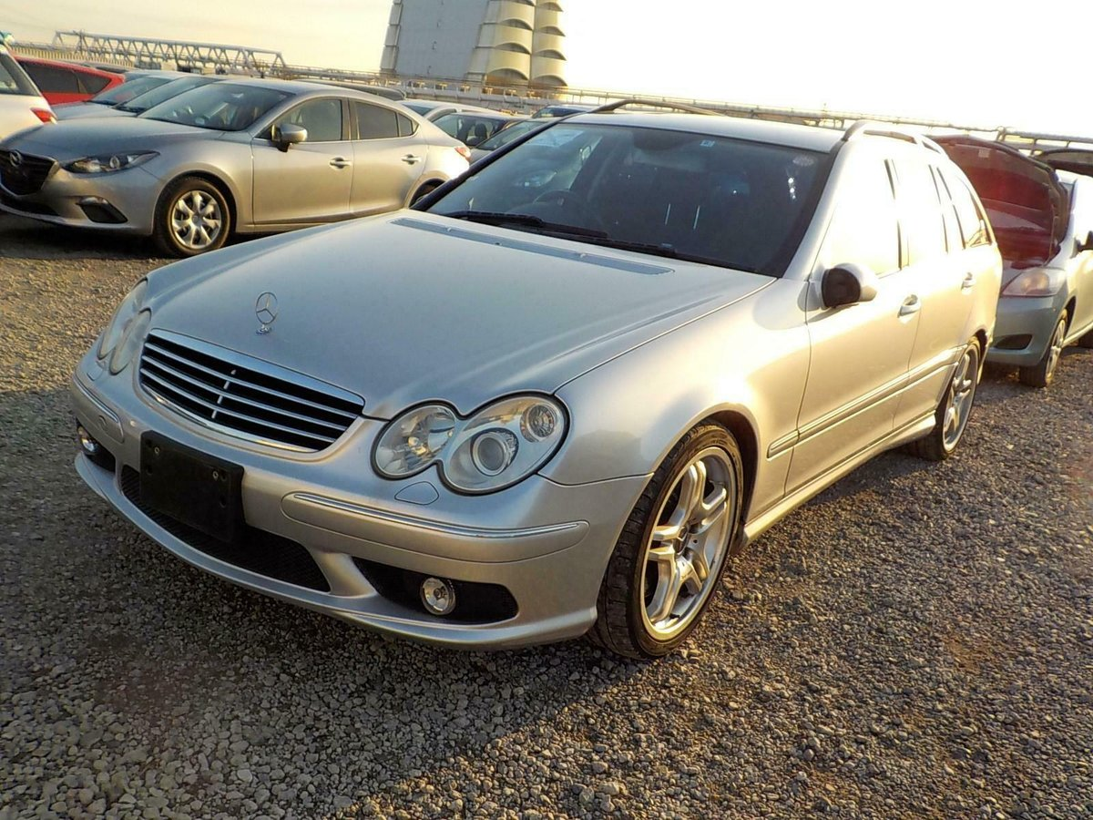 2006 Mercedes-Benz C55 AMG auto Estate 63k Miles FSH Silver For Sale (picture 1 of 6)