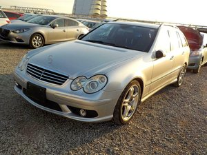 2006 Mercedes-Benz C55 AMG auto Estate 63k Miles FSH Silver For Sale
