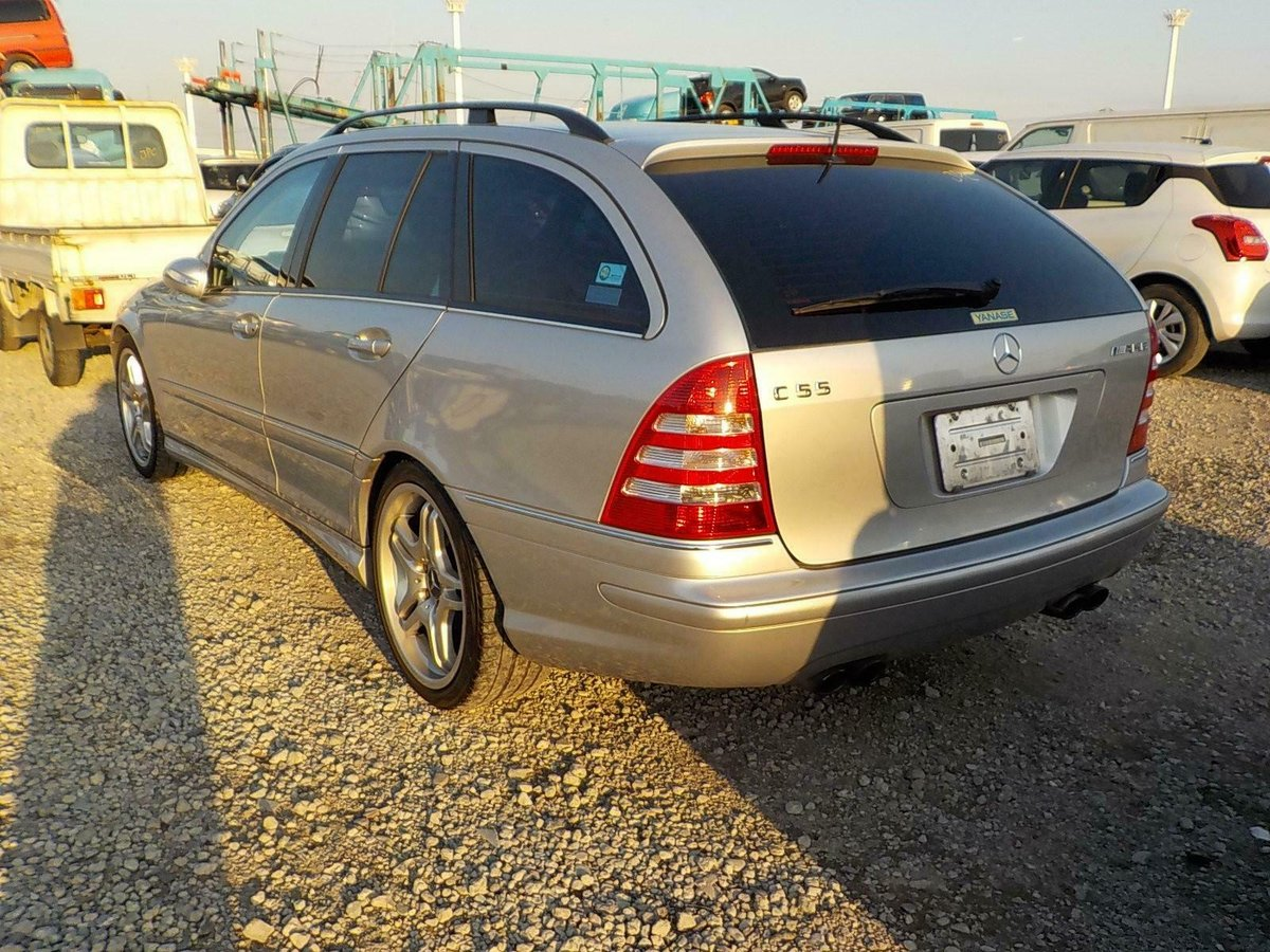 2006 Mercedes-Benz C55 AMG auto Estate 63k Miles FSH Silver For Sale (picture 2 of 6)
