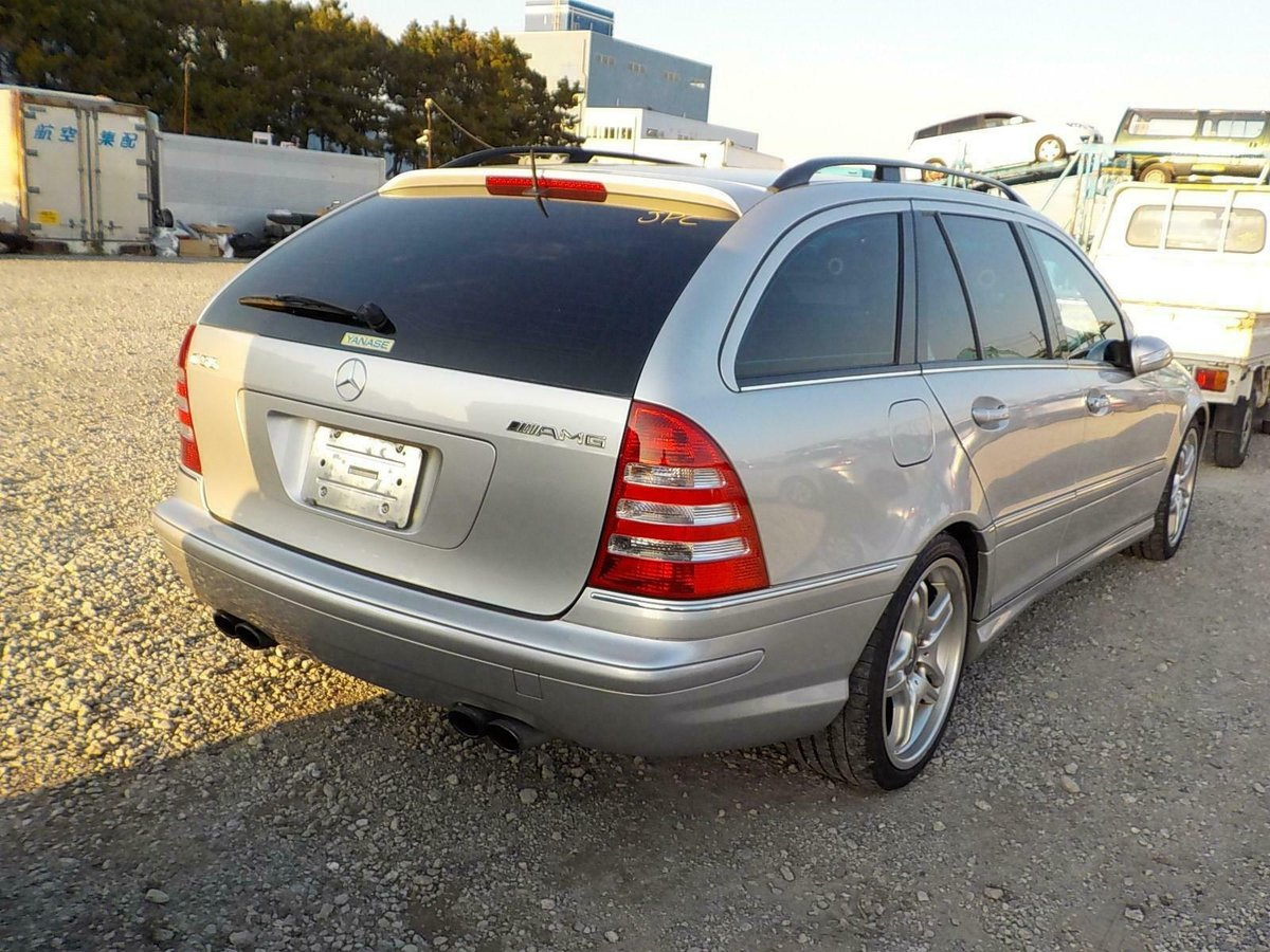 2006 Mercedes-Benz C55 AMG auto Estate 63k Miles FSH Silver For Sale (picture 3 of 6)