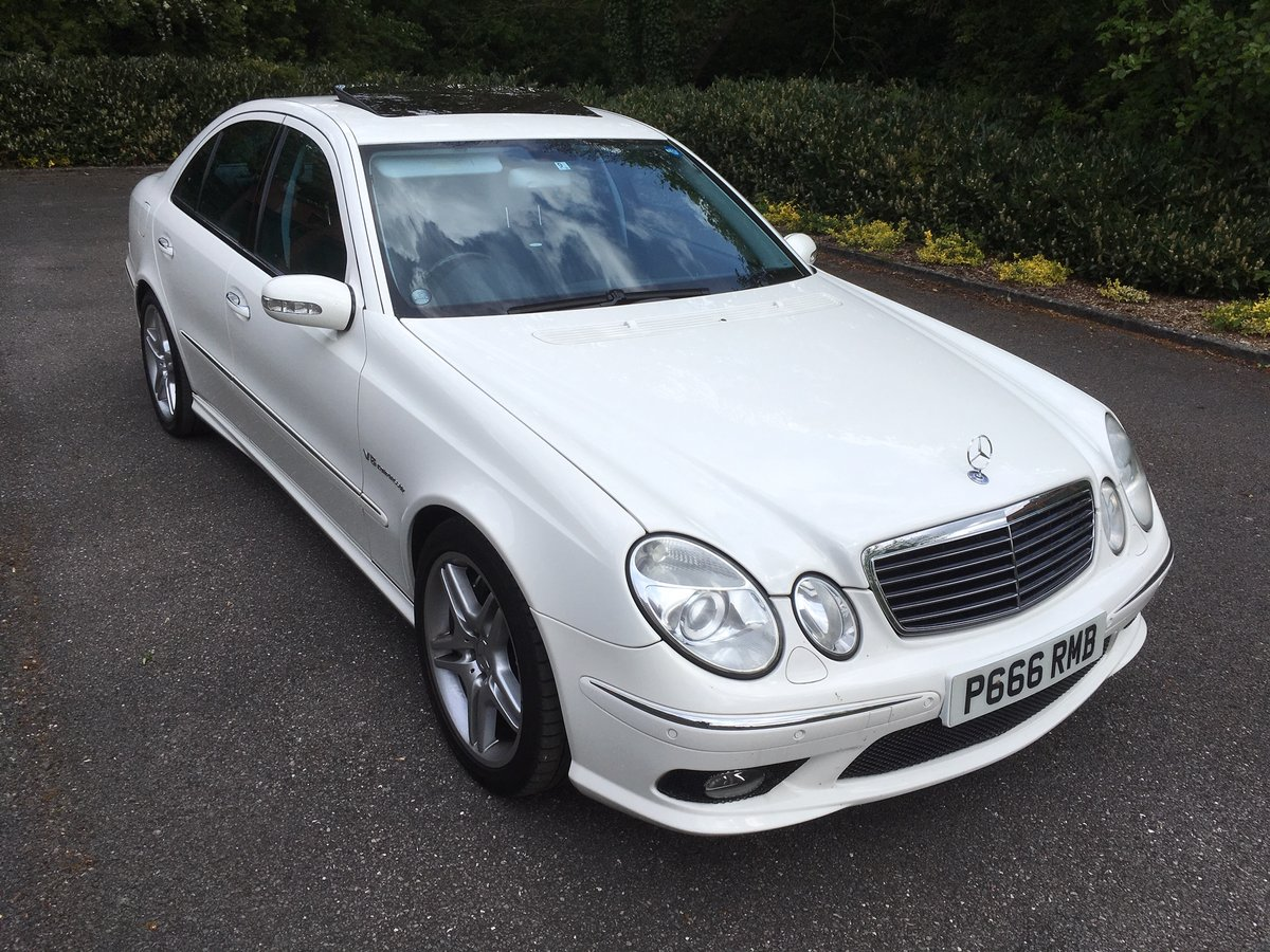 2006 MERCEDES E55 AMG SUPERCHARGED, 35000 MILES WARRANTED For Sale (picture 1 of 6)