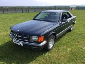 1984 Mercedes 500 SEC LHD at Morris Leslie Auction 25th May SOLD by Auction