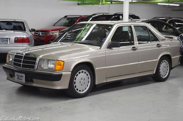 1986 Mercedes190E 2.3-16 = 5 speed Manual Gold $22.9k For Sale (picture 1 of 6)