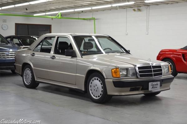 1986 Mercedes190E 2.3-16 = 5 speed Manual Gold $22.9k For Sale (picture 2 of 6)