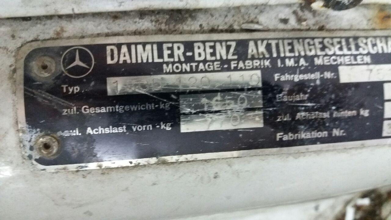 1957 MERCEDES-BENZ ORIGIN. BLUE METALLIC I.M.A.MECHELEN For Sale (picture 5 of 6)
