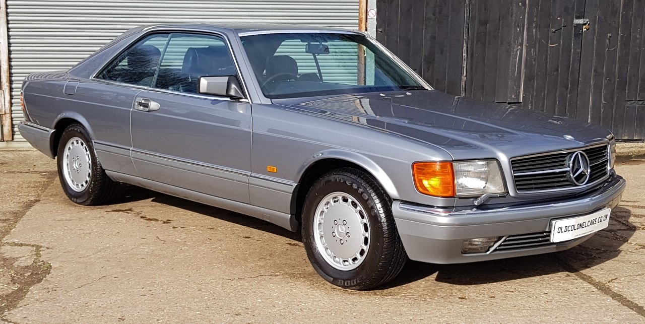 1987 Outstanding Mercedes W126 560 SEC - 30 Service stamps For Sale (picture 1 of 6)