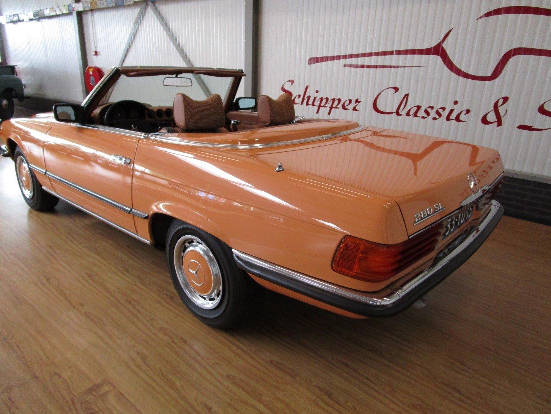 1976 Mercedes 280SL Euro!! Cayenne orange For Sale (picture 3 of 6)