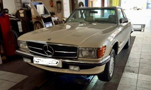 1986 500 sl w107 convertible UK registration