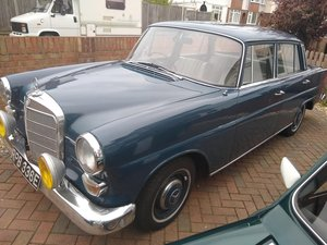 1967 Mercedes W110 200 Fintail for auction Friday 12th July For Sale by Auction