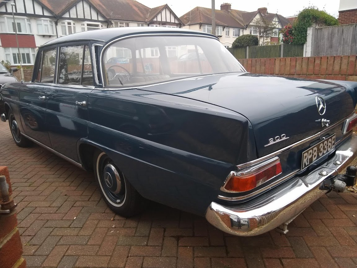 1967 Mercedes W110 200 Fintail for auction Friday 12th July For Sale by Auction (picture 5 of 6)