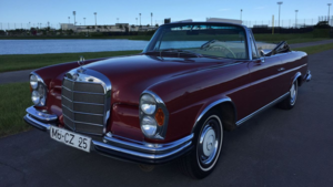 1967 Mercedes 280SE Cabriolet = Euro-specs Red Auto $119k For Sale