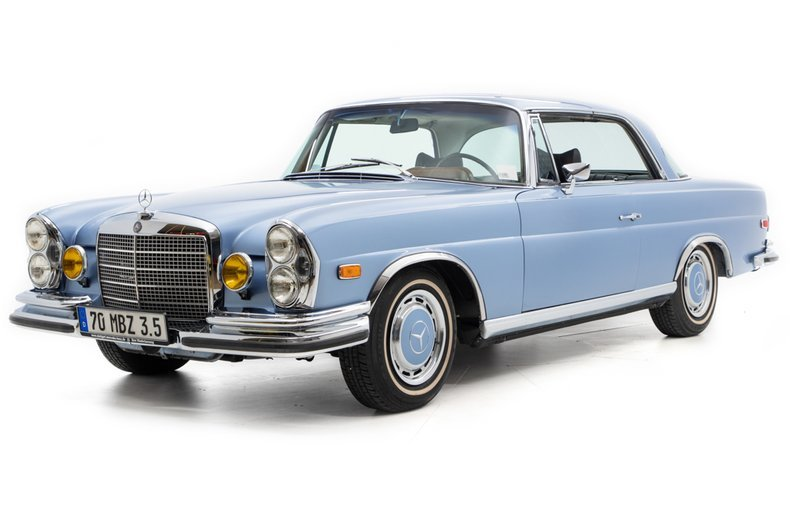 1970 Mercedes 280SE 3.5 Coupe low 7.5k miles Auto Blue $99.5 For Sale (picture 1 of 6)