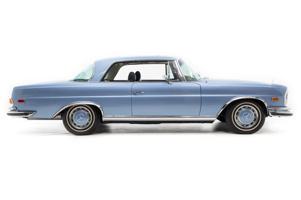 1970 Mercedes 280SE 3.5 Coupe low 7.5k miles Auto Blue $99.5 For Sale (picture 2 of 6)
