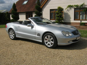 2003 MERCEDES BENZ SL500 AUTOMATIC. ELECTRIC HARD TOP ROOF.  SOLD