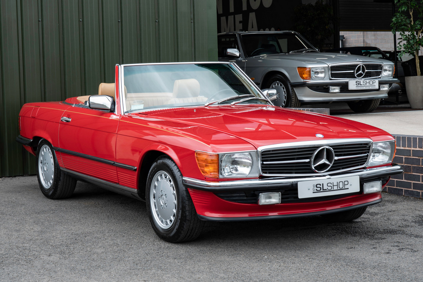 1988 Mercedes-Benz R107 560 SL Signal Red Stock #2103  For Sale (picture 1 of 6)
