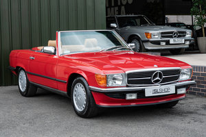 1988 1987 Mercedes-Benz R107 560 SL Signal Red Stock #2103  For Sale