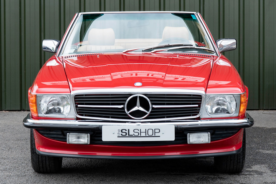 1988 Mercedes-Benz R107 560 SL Signal Red Stock #2103  For Sale (picture 2 of 6)
