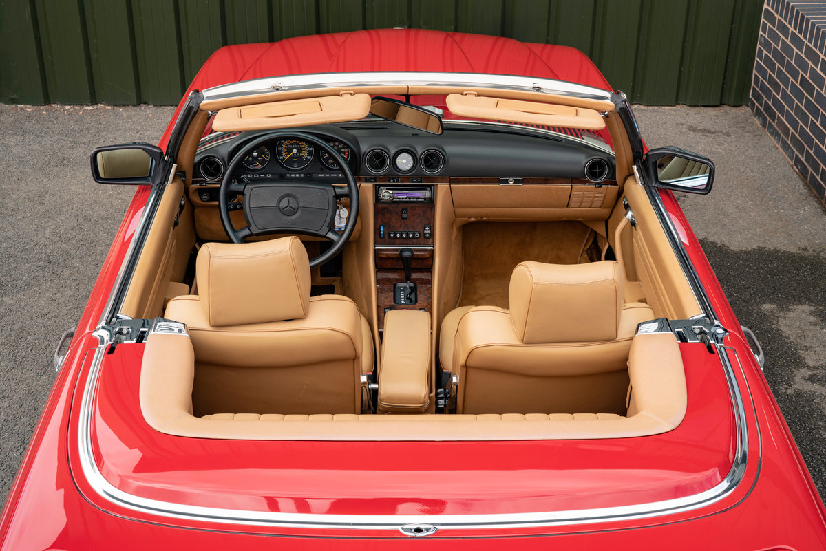 1988 Mercedes-Benz R107 560 SL Signal Red Stock #2103  For Sale (picture 6 of 6)