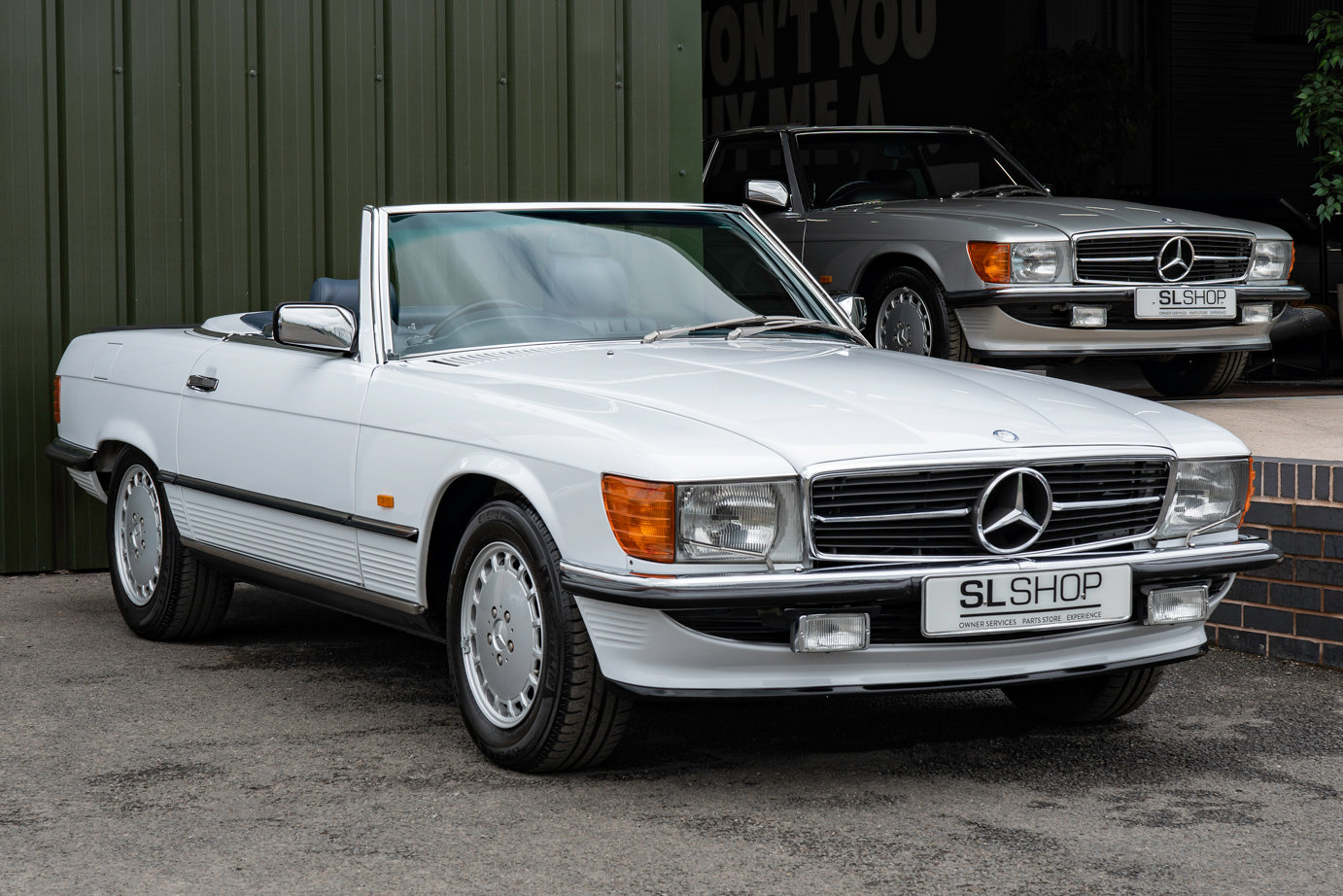 1988 Mercedes-Benz 500SL V8 (R107) #2091 Blue Leather 85k Miles For Sale (picture 1 of 6)
