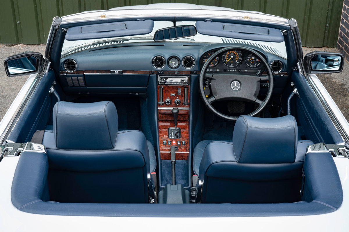 1988 Mercedes-Benz 500SL V8 (R107) #2091 Blue Leather 85k Miles For Sale (picture 4 of 6)