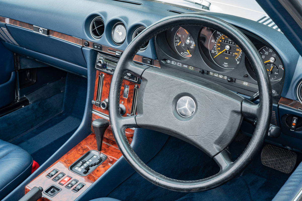 1988 Mercedes-Benz 500SL V8 (R107) #2091 Blue Leather 85k Miles For Sale (picture 6 of 6)