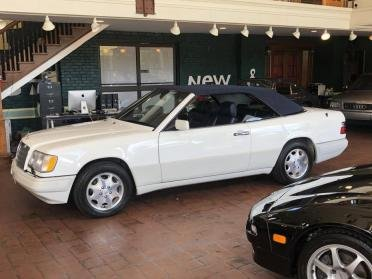 1995 Mercedes E320 Cabriolet = Ivory(~)Navy 39k miles $24.9k For Sale (picture 1 of 6)