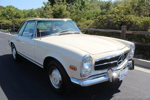 1969 Mercedes 280 SL = Pagoda 2 Tops Auto Clean Ivory $85k For Sale