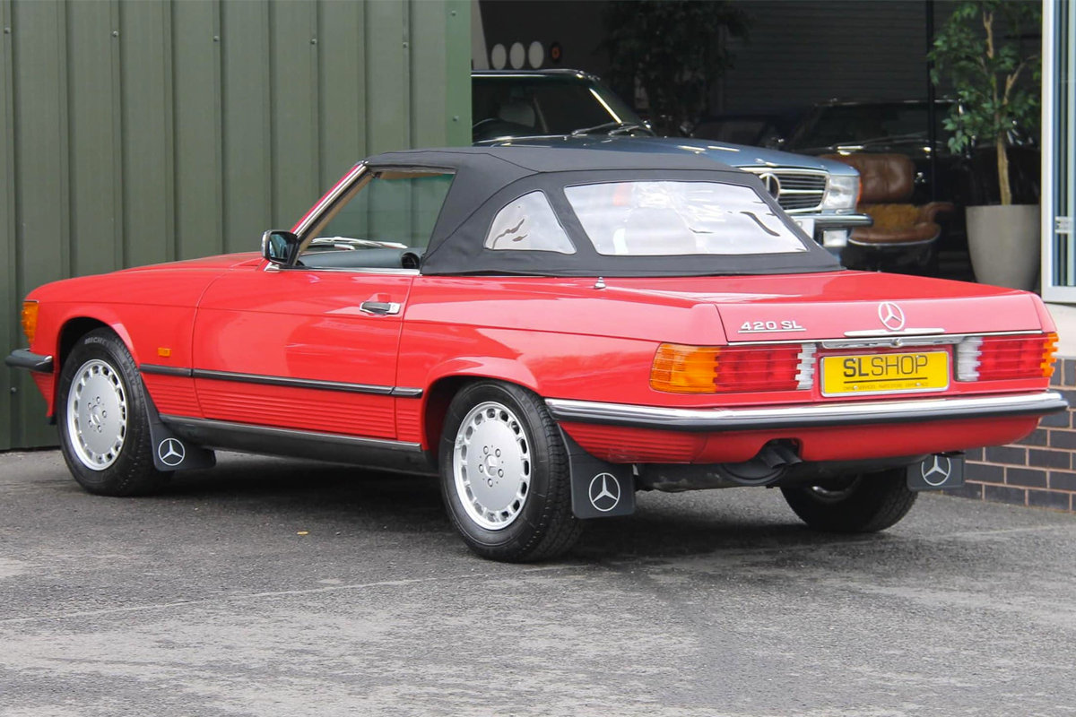 1989 Mercedes-Benz 420SL (R107) #2105 Just 1400 Miles! For Sale (picture 5 of 6)