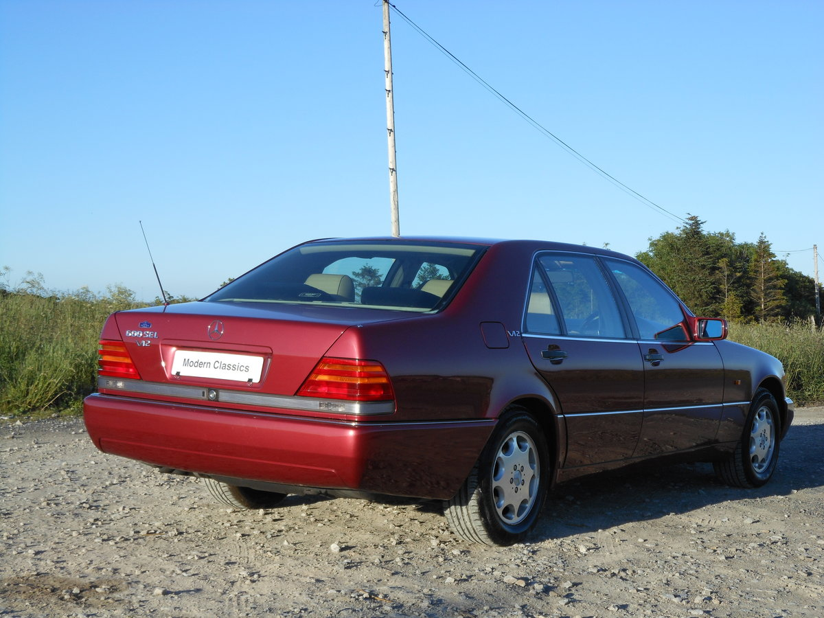 1992 !992 Mercdes S600 600SEL W140 V12 Auto 66,700Miles For Sale (picture 2 of 6)
