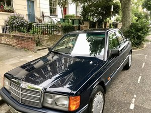 Mercedes Blue 190E, 1992, low mileage, 2 owners For Sale
