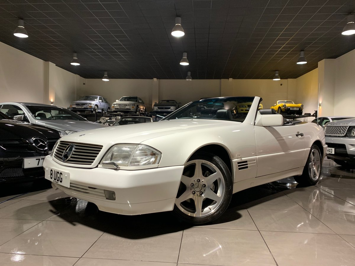 1994 MERCEDES SL500 R129 WHITE BLACK LEATHER BOSE HARDTOP For Sale (picture 1 of 6)