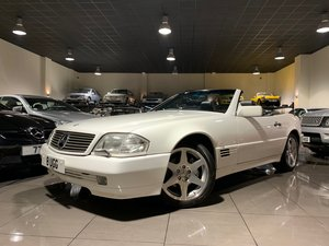 1994 MERCEDES SL500 R129 WHITE BLACK LEATHER BOSE HARDTOP