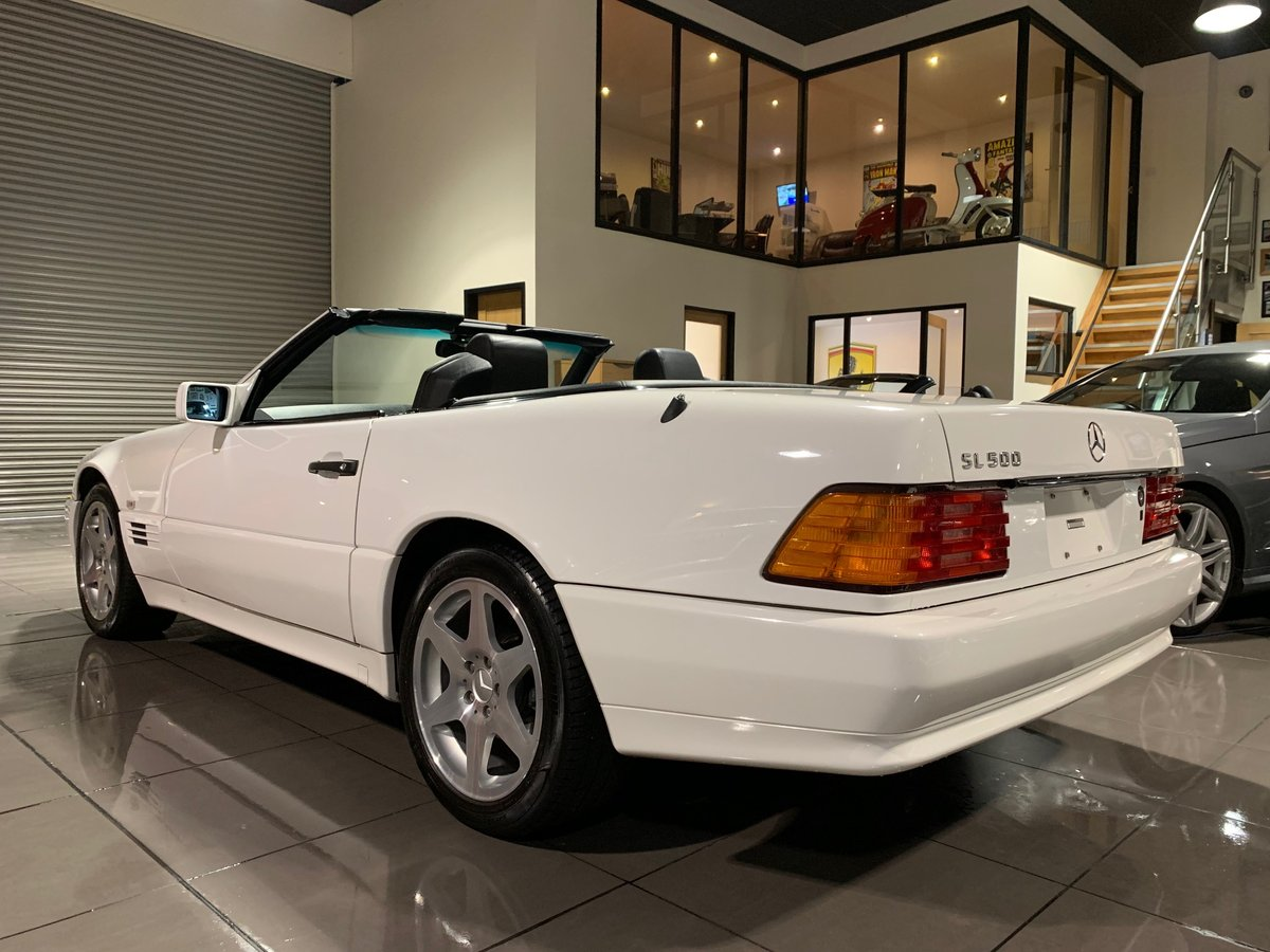 1994 MERCEDES SL500 R129 WHITE BLACK LEATHER BOSE HARDTOP For Sale (picture 2 of 6)
