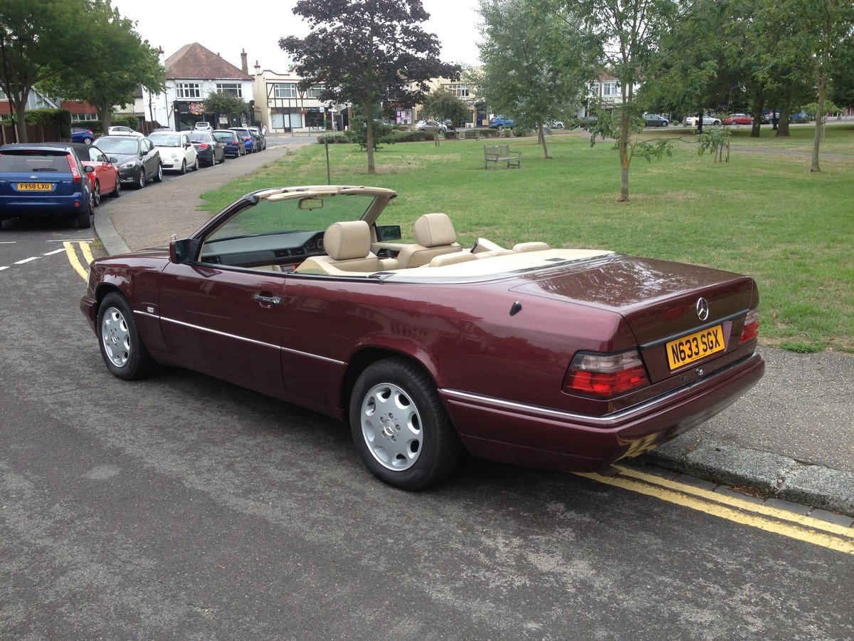 1996 Mercedes e220 cabriolet,full history ,all the mots SOLD (picture 1 of 6)