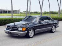 1986 Mercedes S class 560 SEC Sedan = Black 17 AMG $29.5k For Sale